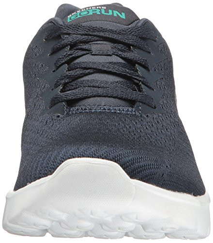 Skechers Run 400 White Navy Obstruct Go Performance Women's xqRrxgw