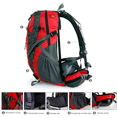 f806292175bf Amazon.com: ZHJWHWABBAO Mountaineering Bag Shoulders Men and Women ...