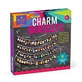 Craft-tastic - DIY Charm Bracelets Kit - Craft Kit Makes 4 Customizable Bracelets with Easy DIY Puffy Sticker Charms