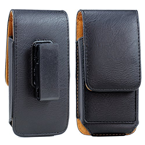 Samsung Galaxy Note 8 Premium Vertical Leather Belt Clip Holster Pouch Case Cover With Card Holder ( Only Fits Samsung Galaxy Note 8 thin or Slim Case On)