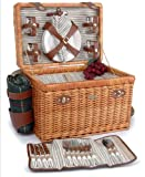 Willow & Wood Picnic Basket