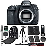 Canon EOS 6D Mark II Digital SLR Camera With Wifi Body Only + 64GB SDXC Card + Deluxe Tripod + Pro Monopod + SLR Backpack + Spare LP-E6 Battery + Remote + SD Reader & More - International Version