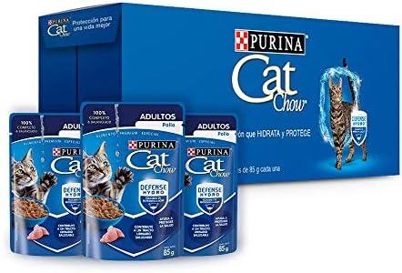 Cat chow defense hydro adulto pescado alimento húmedo pack 24 Pzas de 85g 2