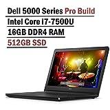Dell Inspiron 5000 Series 15.6 Inch HD Pro Build Business Laptop (Intel i7-7500U 2.7Ghz, 16GB DDR4 RAM, 512GB SSD, Windows 10 Professional )