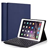 iPad 6th Generation Cases with Keyboard,Smart Case with Detachable Wireless Bluetooth Keyboard PU Leather Folio Hard Back Cover Stand Case for Apple 2017&2018 New iPad/iPad Pro 9.7/iPad Air/Air 2