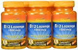 Thompson B-12 Lozenges, Cherry Flavor + Folic Acid, 30 Lozenges by Thompson