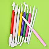 Outus 10 Pieces Plastic Clay Tools Ceramic Pottery