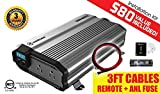 KRIËGER 1500 Watt 24V Power Inverter - Dual 110V AC outlets, Automotive back up power supply for refrigerators, microwaves, Blenders, vacuums, power tools and more. MET approved to UL and CSA.