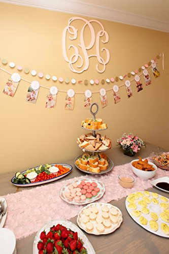 Price comparison product image 3-Pack-Circle Dots Paper Garland-SKYLOVE Pink,  Gold,  and Silver Paper Circles Garland,  Wedding Garland,  Baby Shower Garland,  Photo Prop,  Bridal Shower,  Shabby Chic (1.97 inch in Diameter,  8 Feet)