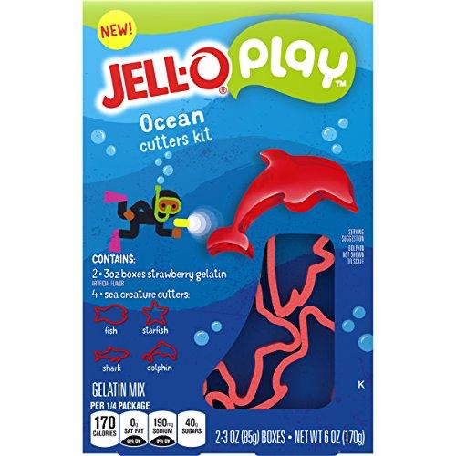 - JELL-O Play Ocean Cutters Gelatin Dessert Kit (6 oz Box)