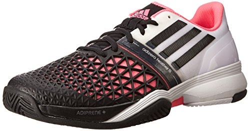adidas Men's CC Adizero Feather III White/Black/Solar Pink Sneaker 7.5 D - Medium