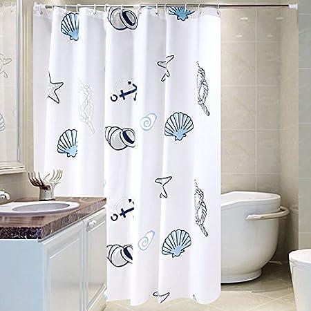 KHSKX-Engrosamiento de concha marina impermeable a prueba de moho de plastico opaco baño cortina tela de la cortina de baño mampara de cortina cortina de colgantes150 * 180cm: Amazon.es: Hogar