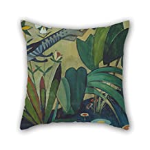 Oil Painting Amadeo De Souza Cardoso - The Leap Of The Rabbit Pillow Shams 18 X 18 Inches / 45 By 45 Cm Best Choice For Sofa Play Room Coffee House Lounge Seat Chair With Double Sides