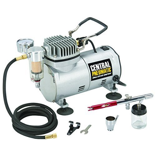 (1/5 HP 58 PSI Oilless Airbrush Compressor Kit from TNM by Central)