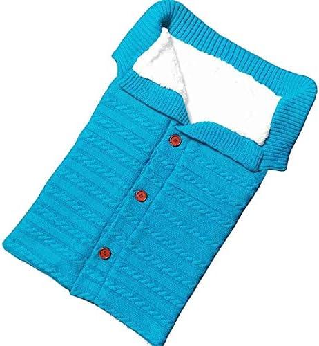 Opinión sobre Bolso de Dormir recién Nacido Tela de Punto de algodón Caliente y Suave, Adecuado for 0-12 Meses de bebé, Robusto, fácil de Transportar, Productos for bebés (Color : Sky Blue)