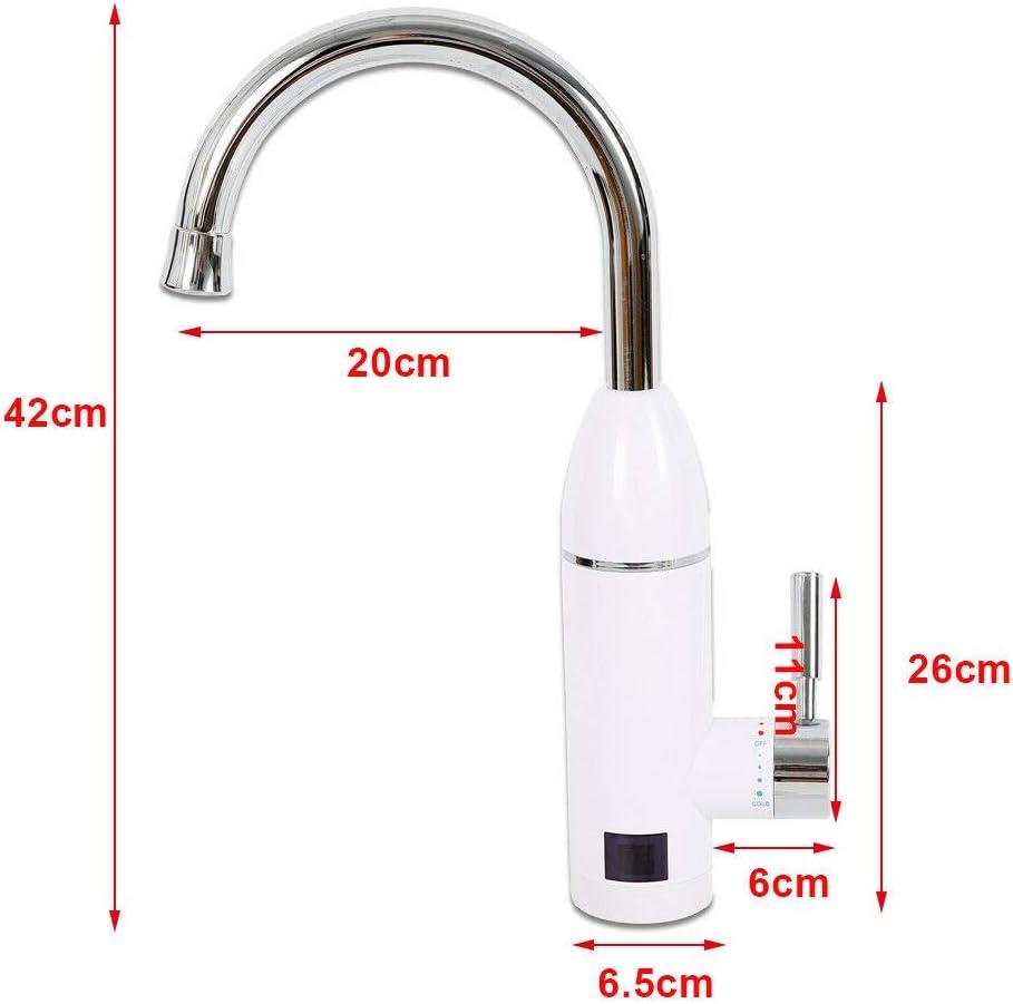 Lave-eau /électrique instantan/é 3000 W Robinet de chauffage rapide Robinet /électrique puissant 360 O Chauffe-eau instantan/é Mitigeur monocommande