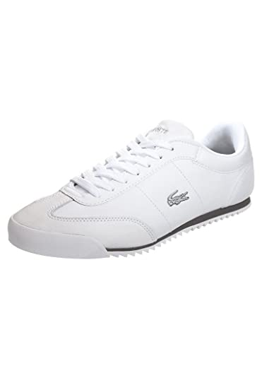 006fc1cc562c Lacoste ROMEAU Mens Lace Up Leather White Sneakers Trainers Shoes Size 9.5   Amazon.co.uk  Shoes   Bags