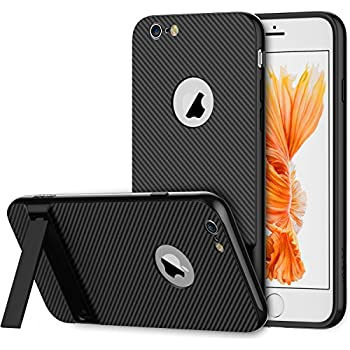 iPhone 6s Plus Case, JEDirect Slim-Fit iPhone 6 Plus Case with Self Stand for Apple iPhone 6 6s Plus 5.5 (Black)