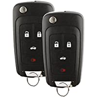 Discount Keyless Replacement Uncut Car Remote Fob Key Combo Compatible with OHT01060512 (2 Pack)