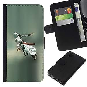 // PHONE CASE GIFT // Moda Estuche Funda de Cuero Billetera Tarjeta de crédito dinero bolsa Cubierta de proteccion Caso LG Nexus 5 D820 D821 / Flying Assassin /