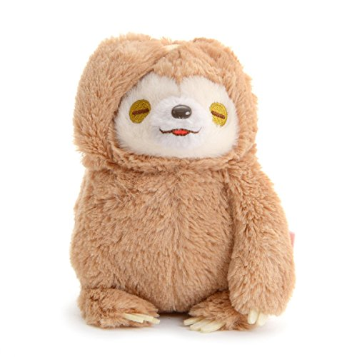 Sloth Plushie Standard Size Stuffed Animal Namakemono No Mikke Nakayoshi Amuse Brown (Cute Anime Kawaii Animal)