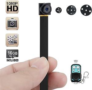 Wiseup™ 16GB 1920x1080P HD Hidden Camera Button Mini DV Camcorder Motion Detection Security DVR Video Recorder