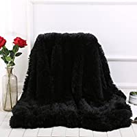 WINLIFE  Super Soft Shaggy Faux Fur Long Hair Throw Blanket Cozy Elegant Decorative Blanket
