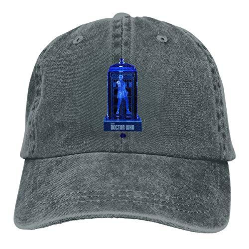 (Grace Shop Doctor Who Crystalline Tardis Adult Cowboy Baseball Caps Denim Hats for Men)