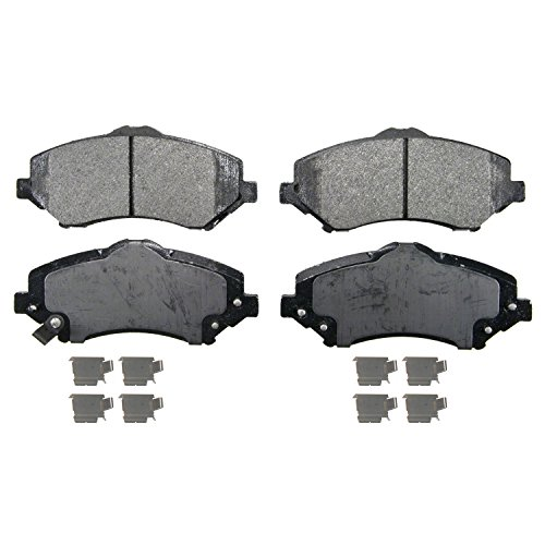 Wagner QuickStop ZX1327 Semi-Metallic Disc Pad Set Includes Pad Installation Hardware, Front
