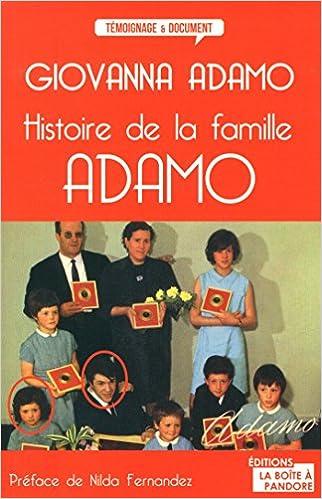 En ligne téléchargement gratuit Histoire de la famille Adamo pdf, epub