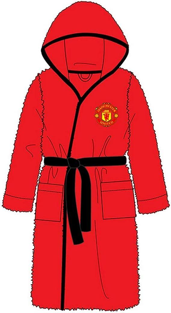 Robe de Chambre th/ème Football Polaire Homme Manchester United FC Officiel