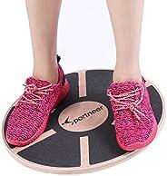 Sportneer Wooden Balance Board Wobble Exercise Platform for Gym, Sport Performance Enhancement, Rehab, Trainin