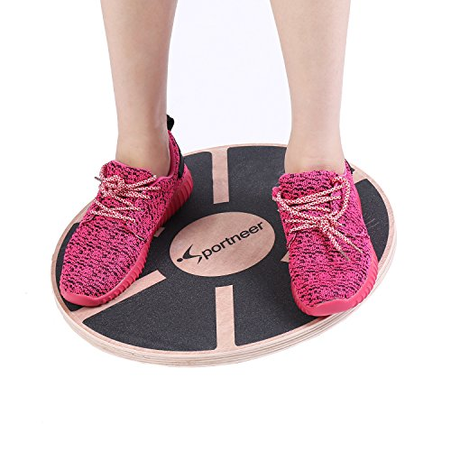 Sportneer Balance Boards, 15.7'' Wooden Wobble Board for Workout, Balance Training, Physical Therapy & Gym