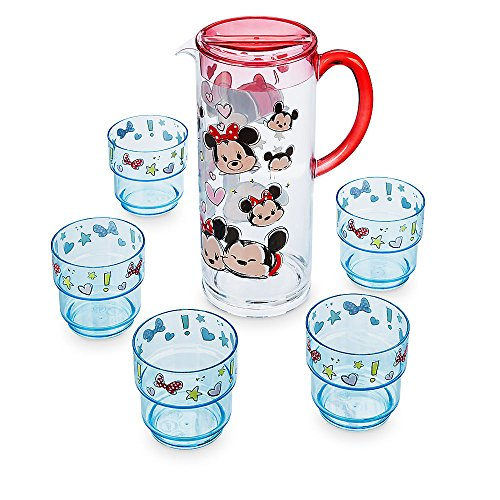 (Disney Mickey and Minnie Mouse ''Tsum Tsum'' Pitcher and Tumbler Set)