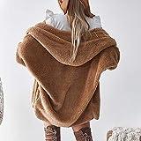 Franterd Women Fluffy Coat with Hooded Winter
