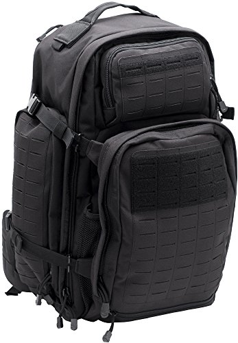 LA Police Gear Atlas 72H MOLLE Tactical Backpack for Hiking, Rucksack, Bug Out, or Hunting-Black (Best 72 Hour Backpack)