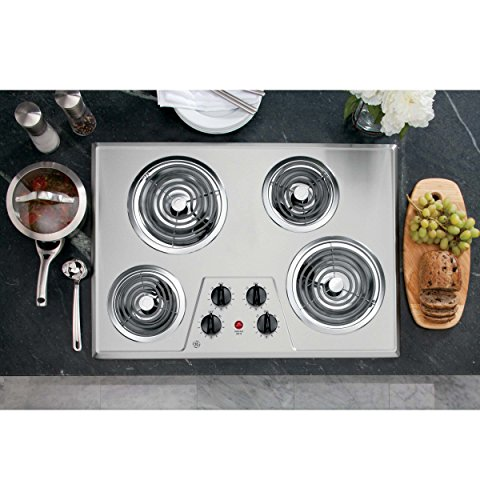 GE JP328SKSS Electric Cooktop Stainless product image