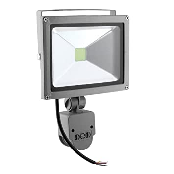 Starnearby DICN 20 W 6000 LM Sensor de movimiento exterior LED Foco Proyector Lámpara de trabajo