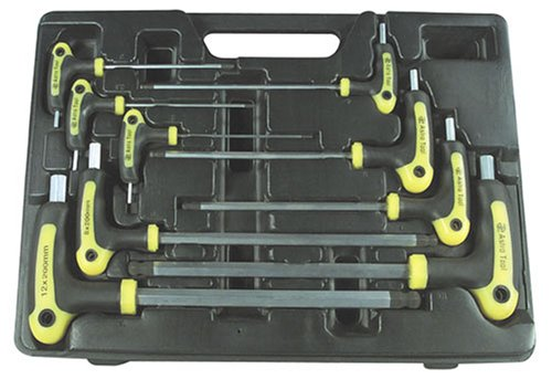 Astro 1026 Metric T-4 Handle Ball Point and Hex Key Wrench Set 9 PC. by Astro Pneumatic Tool