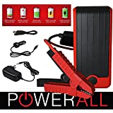 Powerall DELUXE 400A Portable 12,000 mAh Lithium V4 V6 V8 Car Jump Starter with Power Bank, LED Flashlight and Carrying Case