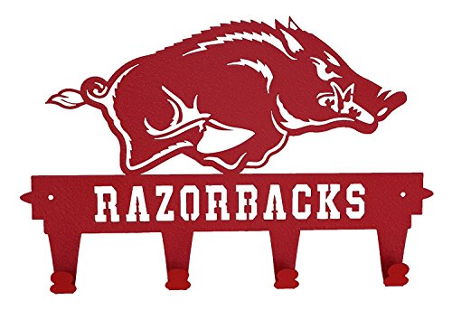 Arkansas Razorbacks Wall Mounted Coat and Hat Rack By Mus...