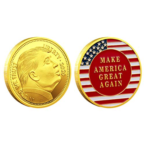 Vaeiner Coins for Kids, Foreign Currency 2020 45 US President Commemorative Coin Badge from Vaeiner