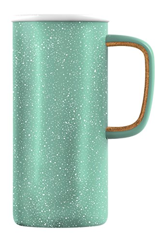 Ello Campy Vacuum-Insulated Stainless Steel Travel Mug, Sun Bleached Turquoise, 18 oz
