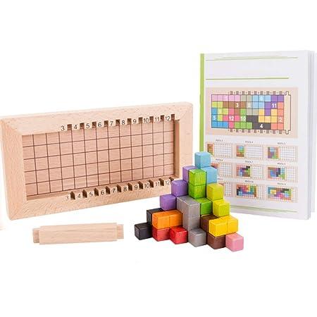 Juguetes Juego Madera Tetris Colorido Puzzle De Bloques wnvN08Om