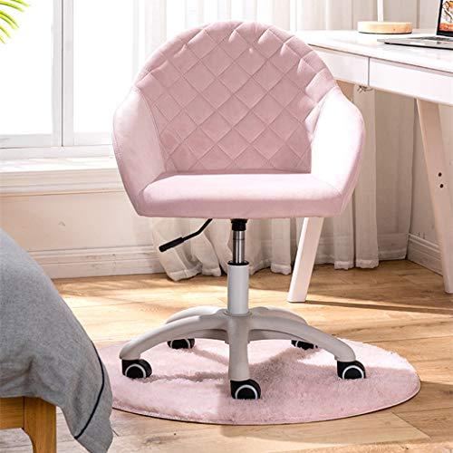 Xin Hai Yuan rosa krossad sammetstyg hem kontor stol svängbar höjd justerbar ergonomisk dator skrivbordsstolar graciösa mottagningsstolar