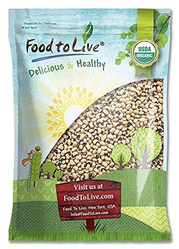 Kosher Organic Black Beans - Organic Black-Eyed Peas, 5 Pounds - Raw Dried Cow Peas, Non-GMO, Kosher, Bulk Beans, Product of the USA