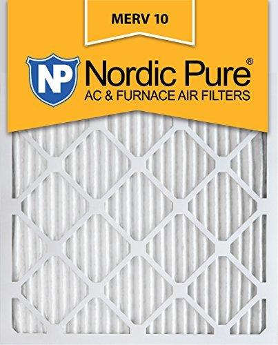14x 20x 1MERV 10プリーツAC炉エアフィルタ、ボックスof 6by Nordic Pure