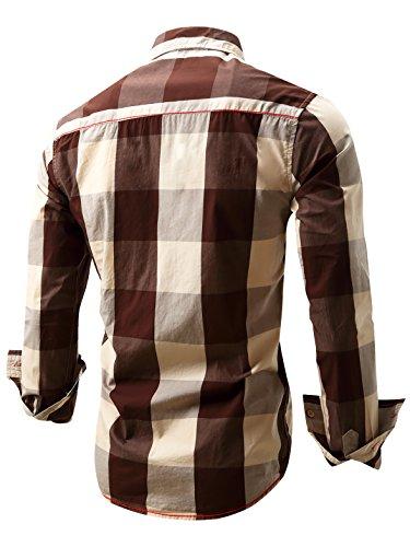 Neleus Men's Long Sleeve Button ...