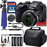 Nikon COOLPIX B500 Digital Camera (Black) Bundle + Accessory Package