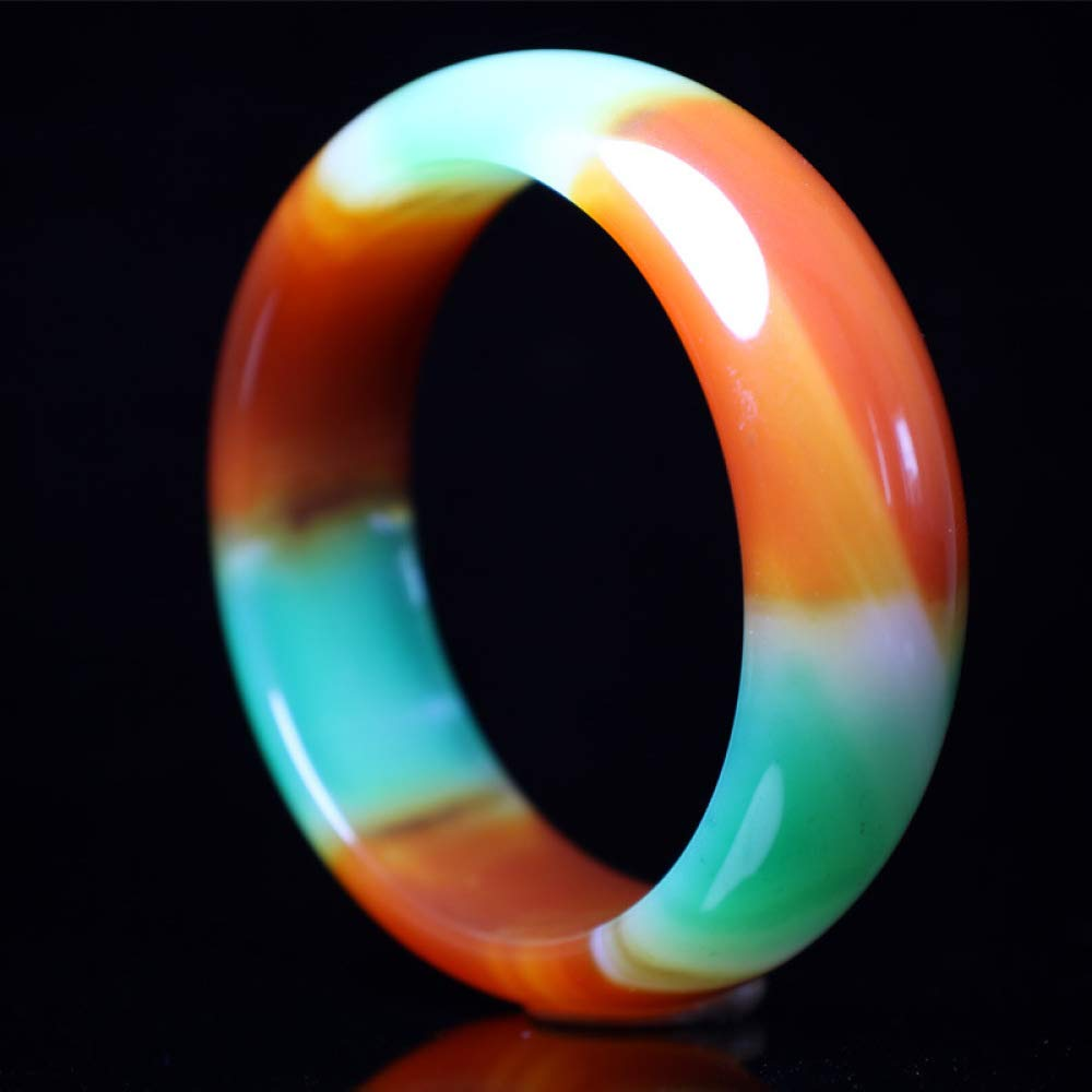 Myzixuan Natural Genuine Agate Pulp Bracelet widening Thickened Agate Bracelet Lady Gift